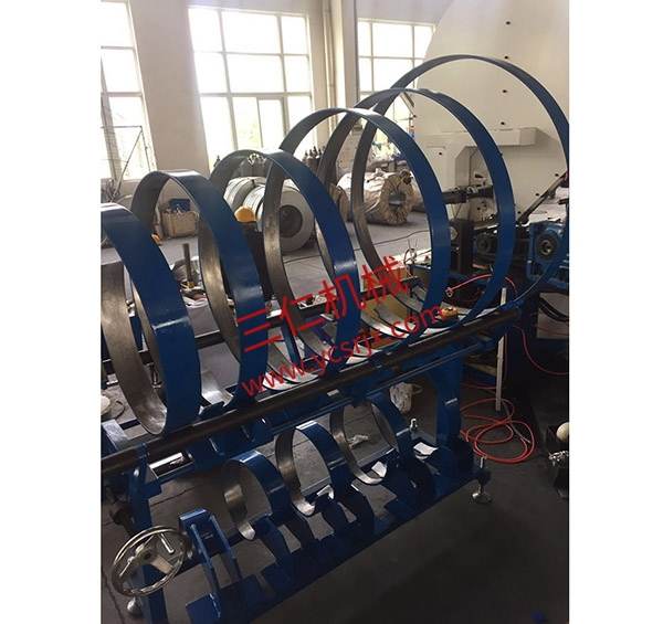 Steel strip flanged automatic winding machine