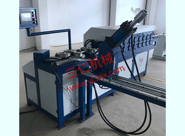 Automatic punching machine for steel strip flange